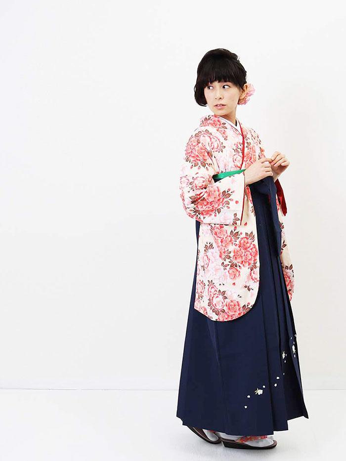 【h】|送料無料|卒業式レンタル袴フルセット-817