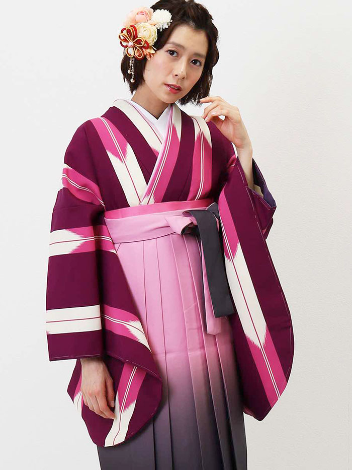【h】|送料無料|卒業式レンタル袴フルセット-1342