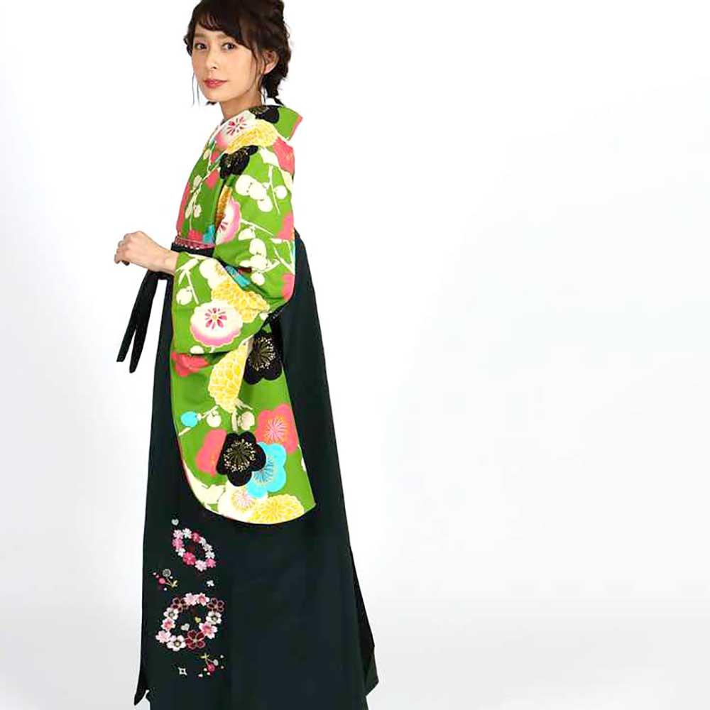 【h】|送料無料|卒業式レンタル袴フルセット-1815