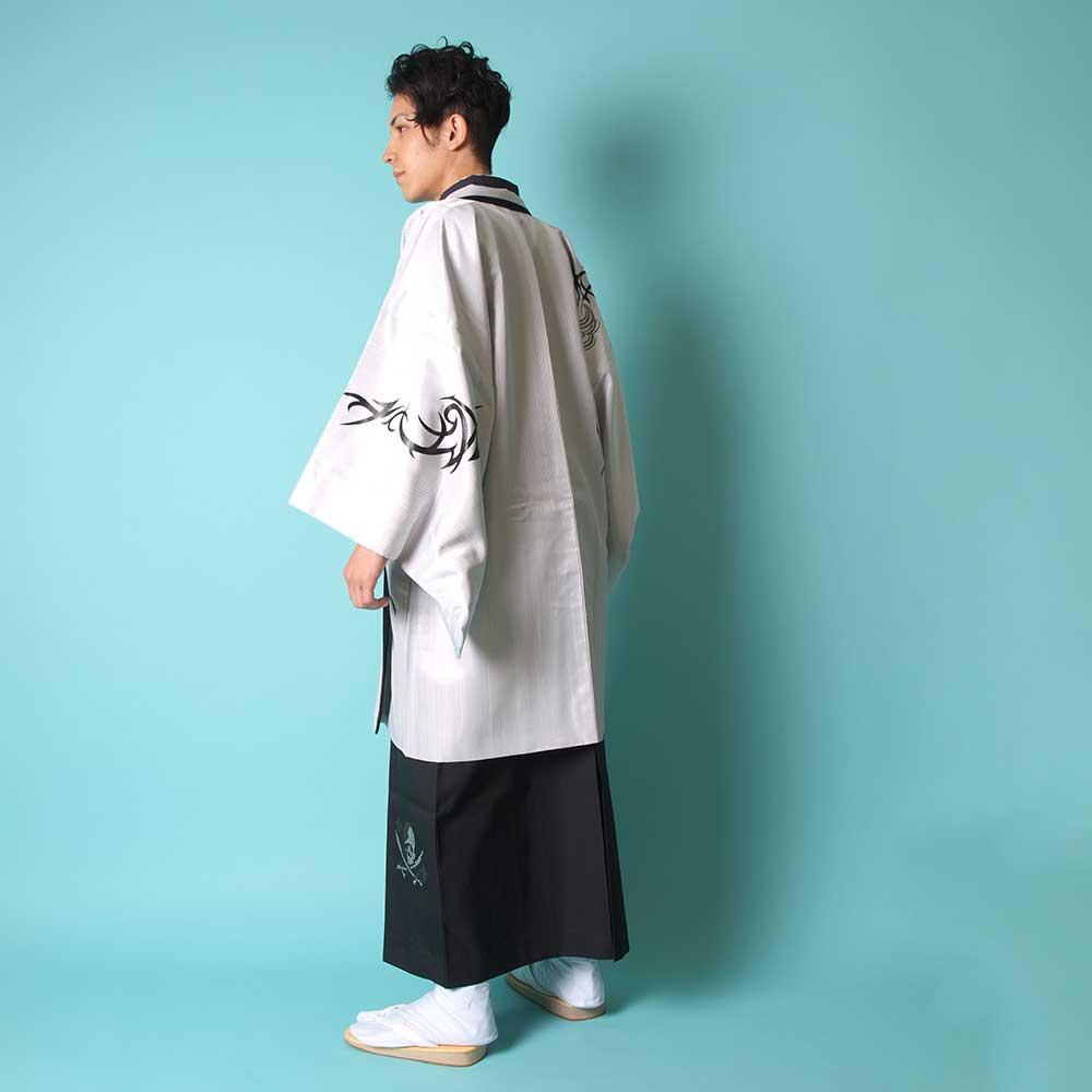 |送料無料|【成人式・卒業式】【成人式・卒業式】男性用レンタル紋付き袴フルセット-7012