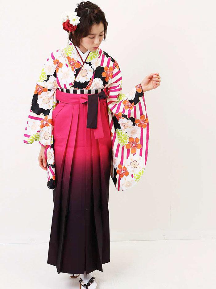 【h】|送料無料|卒業式レンタル袴フルセット-1344