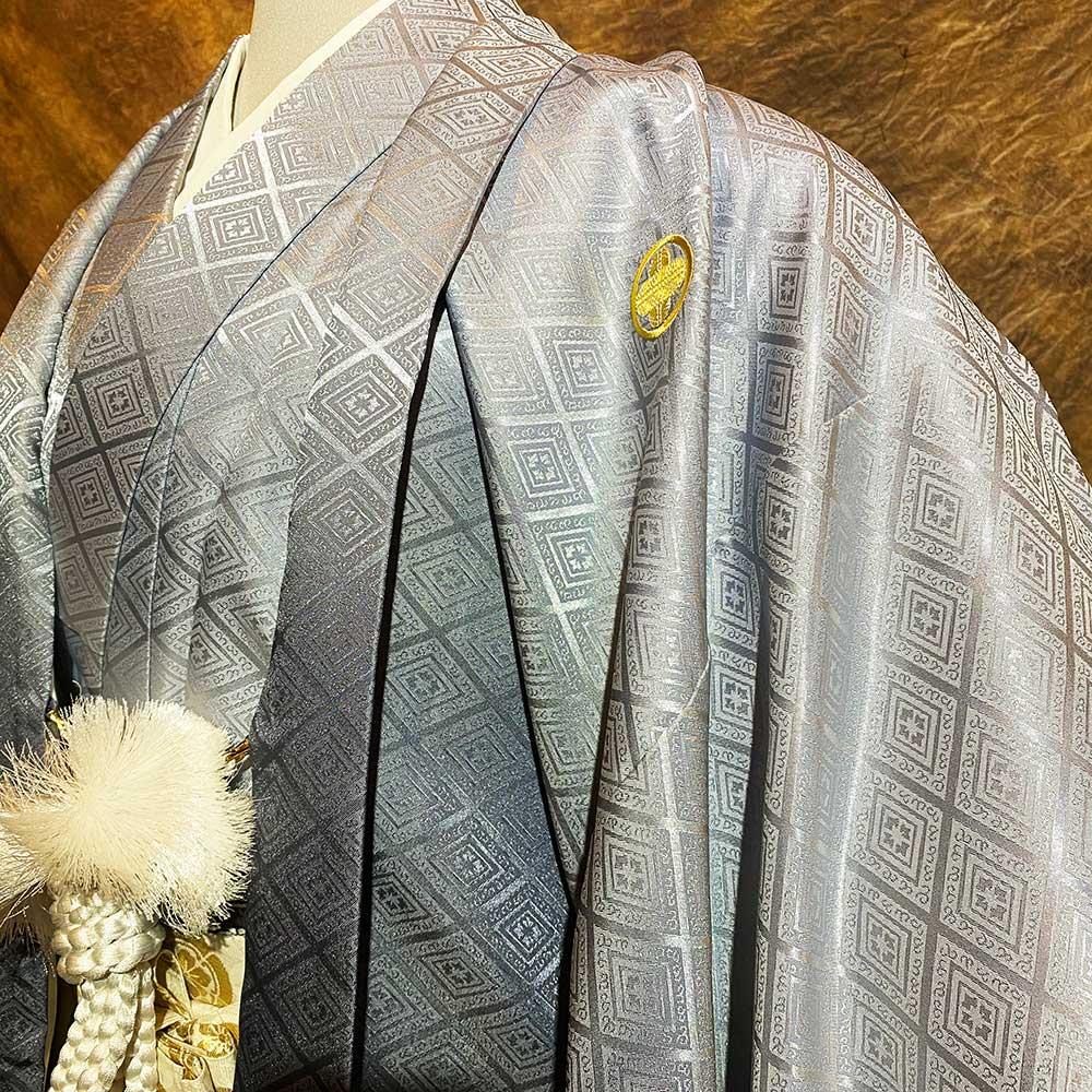 |送料無料|【レンタル】【成人式】安心の最大1ヶ月レンタル可能 男性用レンタル紋付き袴フルセット-7419