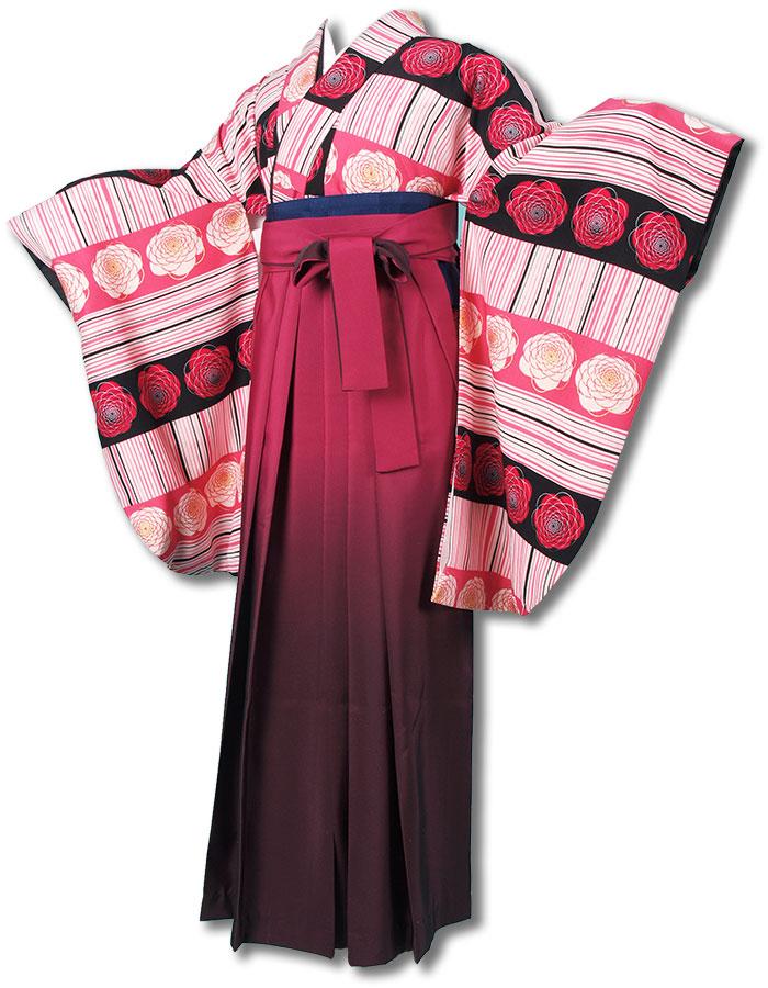 【h】|送料無料|卒業式レンタル袴フルセット-1238