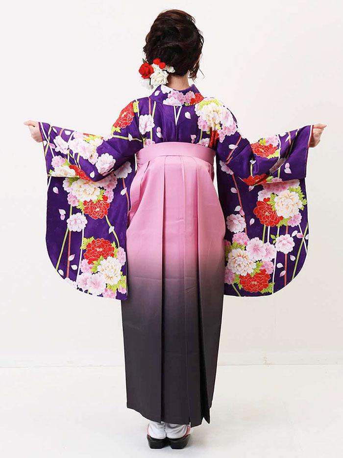 【h】 送料無料 卒業式レンタル袴フルセット-1345