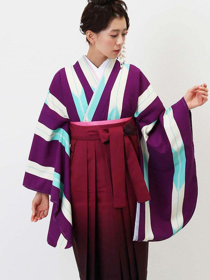 |送料無料|卒業式レンタル袴フルセット-1346