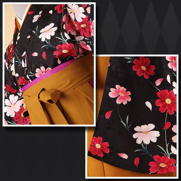 |送料無料||往復送料無料|(13歳くらいの女の子用着物)レンタル十三詣り(十三参り)袴姿フルセット-1324