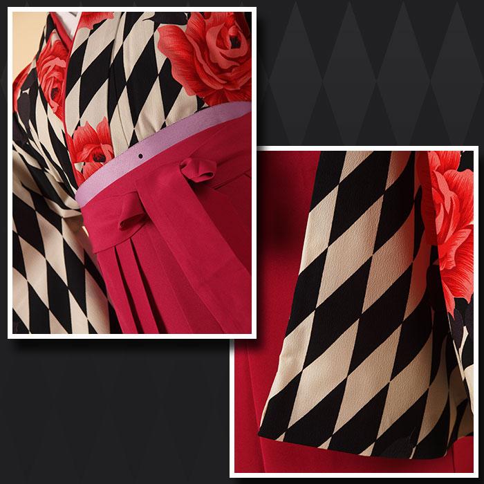 |送料無料||往復送料無料|(13歳くらいの女の子用着物)レンタル十三詣り(十三参り)袴姿フルセット-1325