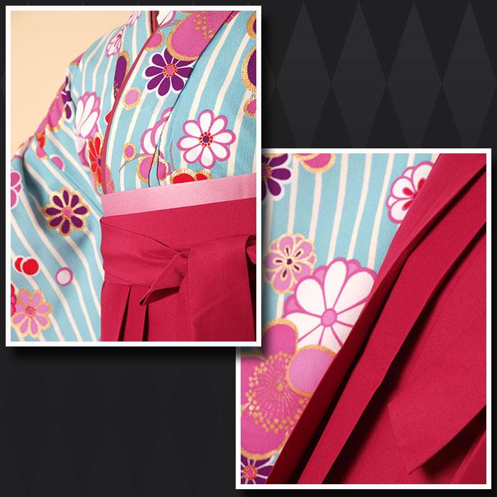 |送料無料||往復送料無料|(13歳くらいの女の子用着物)レンタル十三詣り(十三参り)袴姿フルセット-1330
