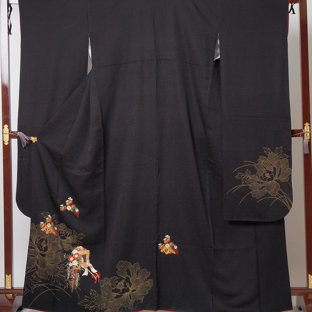 |送料無料|【レンタル】【成人式】 [安心の長期間レンタル]【対応身長150cm〜165cm】【正絹】レンタル振袖フルセット-174|花柄|レトロ|