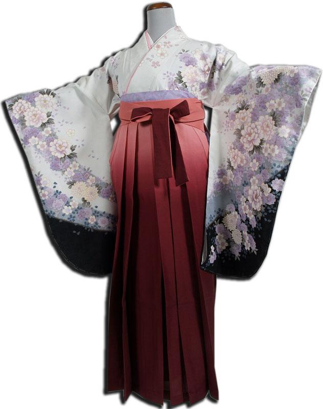 |送料無料|【uxu】卒業式レンタル袴フルセット-712