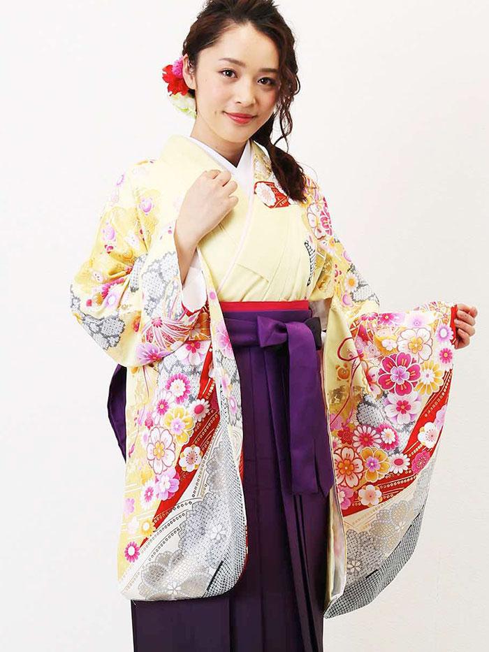 |送料無料|【uuu】卒業式レンタル袴フルセット-1350