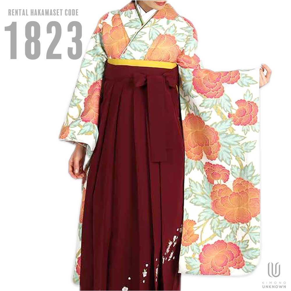 【h】|送料無料|卒業式レンタル袴フルセット-1823