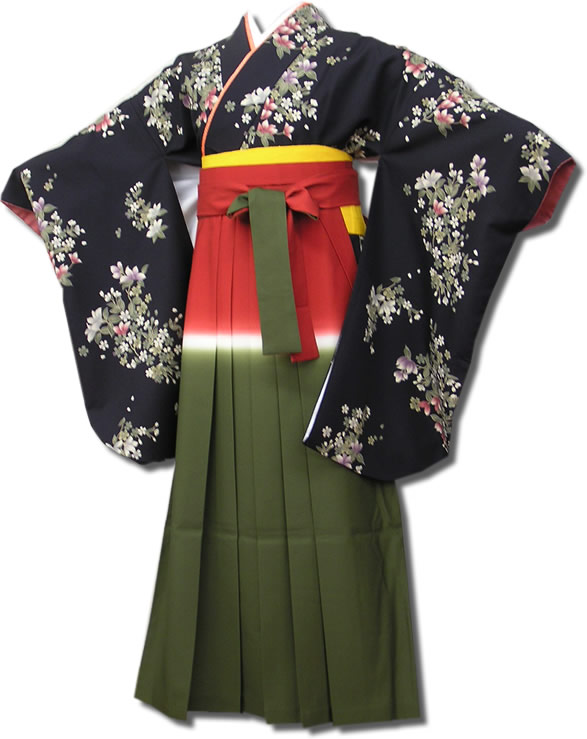 |送料無料|卒業式レンタル袴フルセット-568