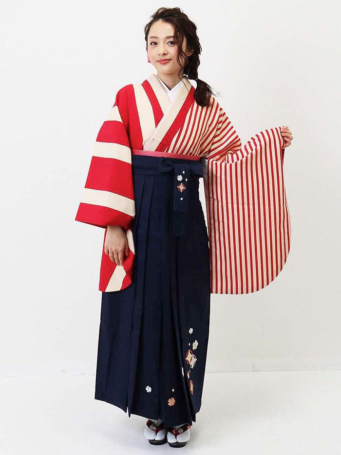 【h】|送料無料|卒業式レンタル袴フルセット-1351