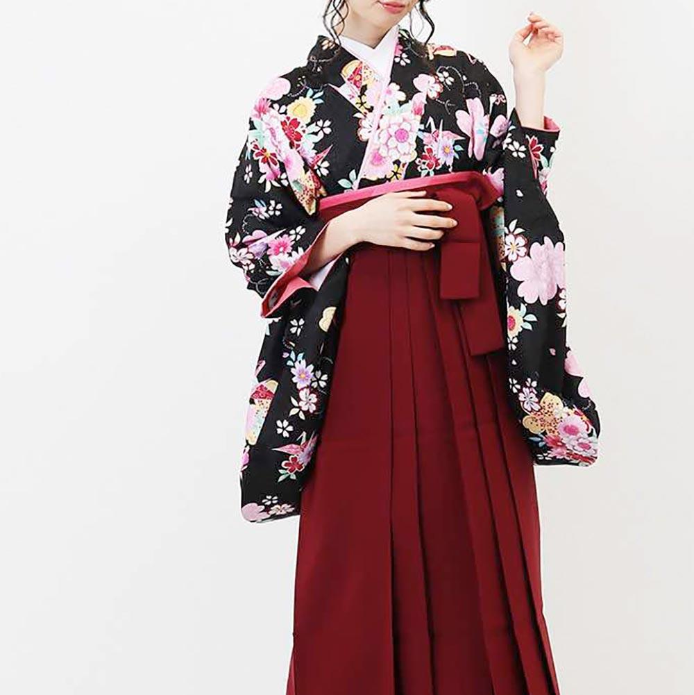 【h】 送料無料 卒業式レンタル袴フルセット-1381