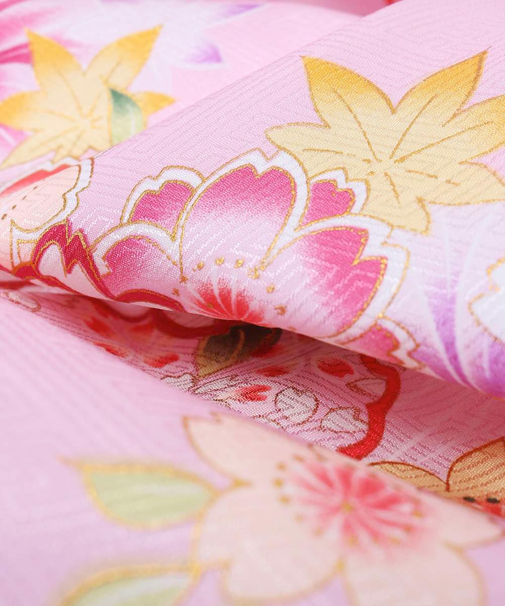 【h】 送料無料 【対応身長157cm〜165cm】【キュート】卒業式レンタル袴フルセット-1003 マルチカラー 花柄 桜 ピンク 紫 