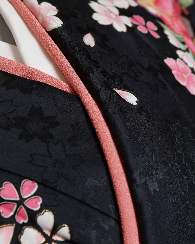 |送料無料|【対応身長157cm〜165cm】【正統派】卒業式レンタル袴フルセット-937|花柄|桜|黒|紫|