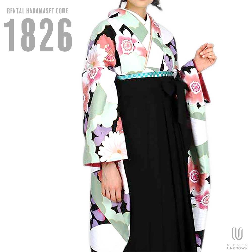 |送料無料|卒業式レンタル袴フルセット-1826