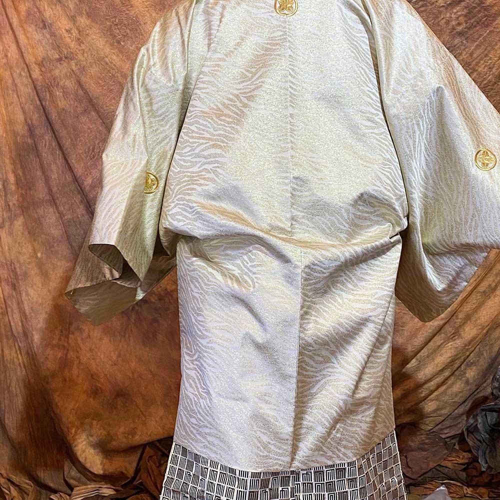  送料無料 【レンタル】【成人式】安心の最大1ヶ月レンタル可能 男性用レンタル紋付き袴フルセット-7422