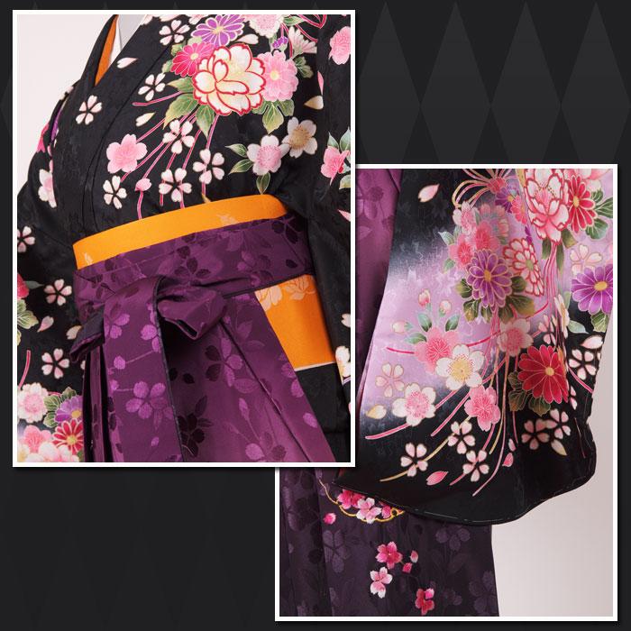 |送料無料|卒業式レンタル袴フルセット-1144