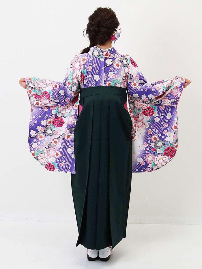 【h】|送料無料|卒業式レンタル袴フルセット-1355