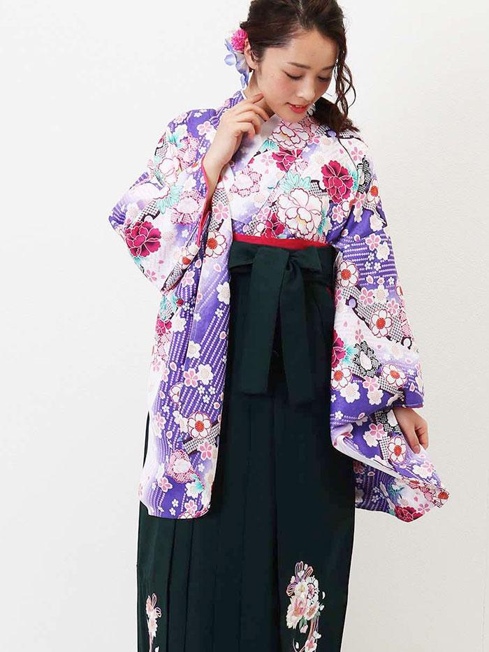 |送料無料|卒業式レンタル袴フルセット-1355