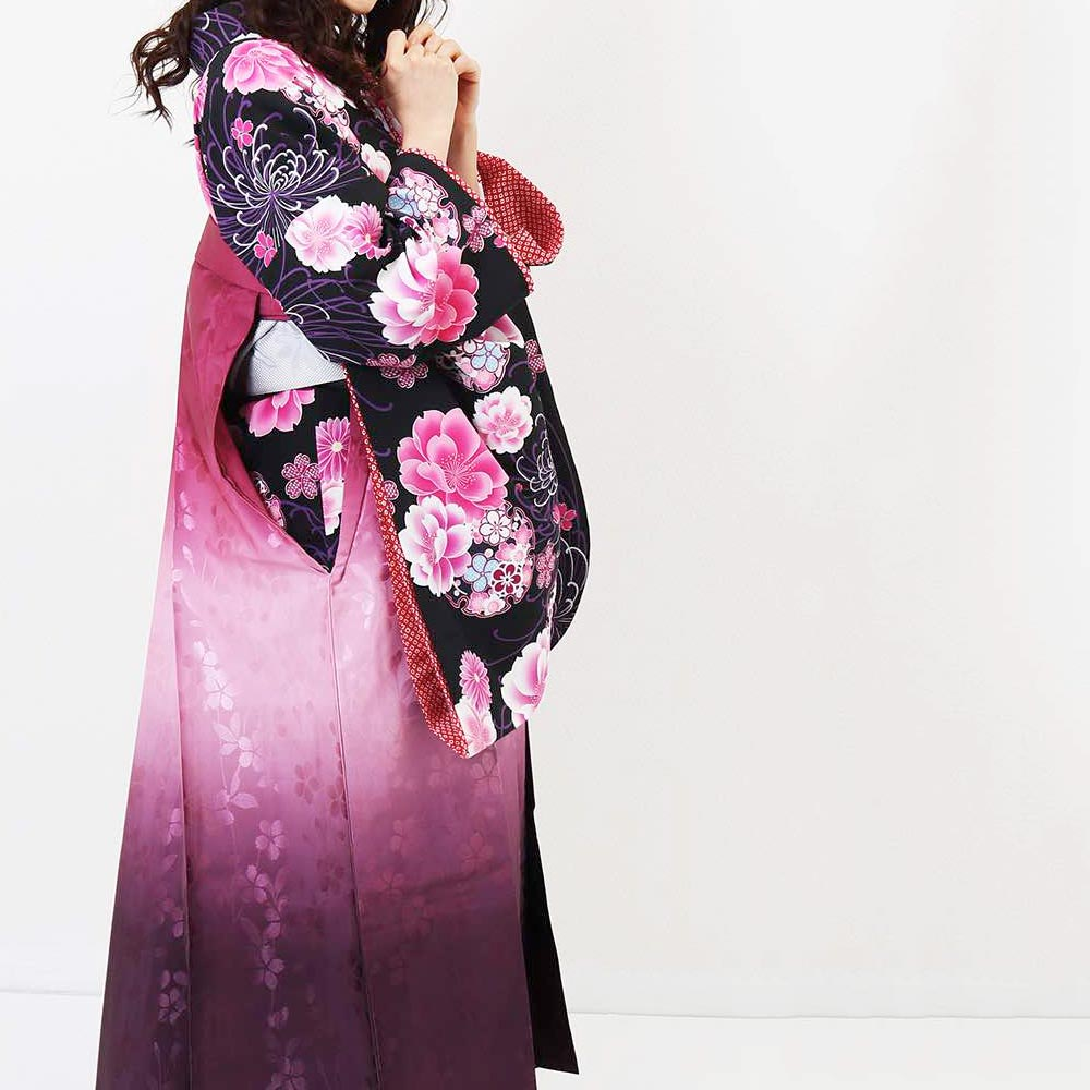 【h】|送料無料|卒業式レンタル袴フルセット-1385
