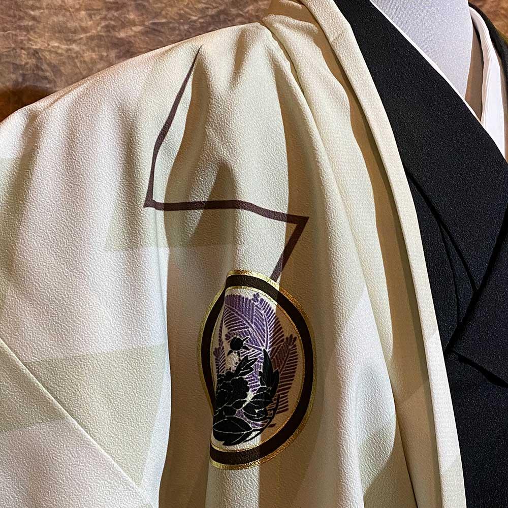 |送料無料|【レンタル】【成人式】安心の最大1ヶ月レンタル可能 男性用レンタル紋付き袴フルセット-7424