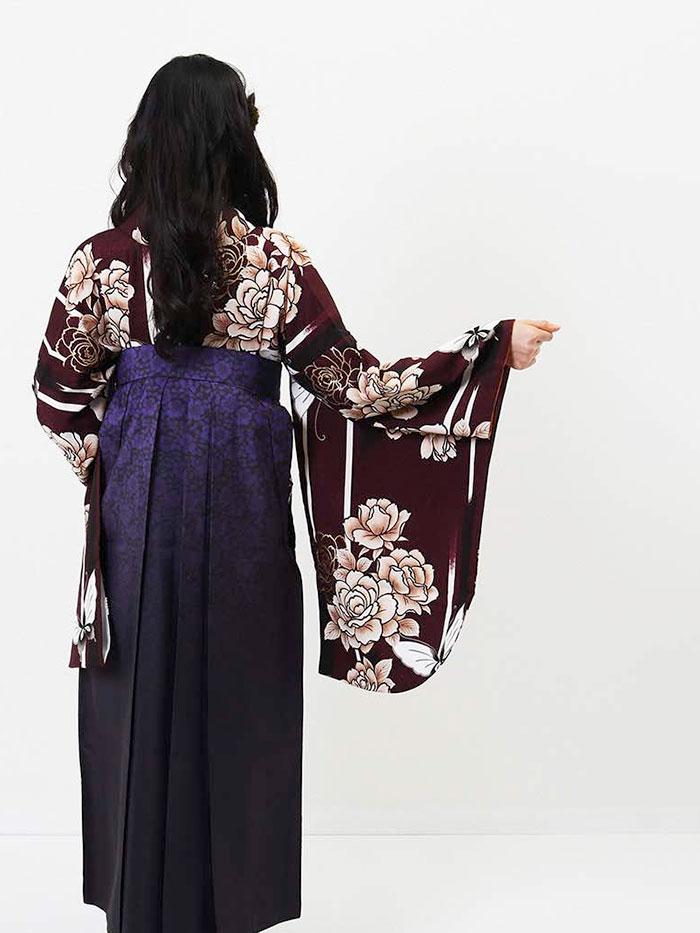 【h】|送料無料|卒業式レンタル袴フルセット-719