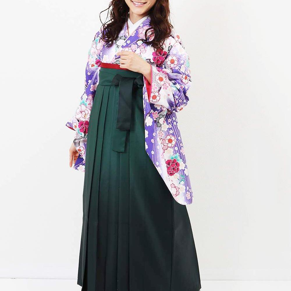 |送料無料|卒業式レンタル袴フルセット-1387