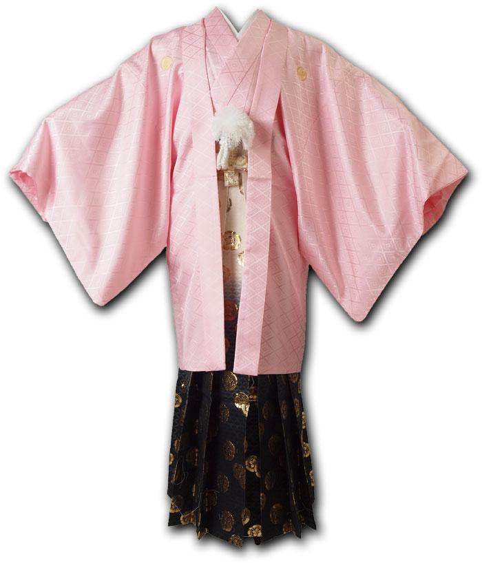 |送料無料|【成人式・卒業式】男性用レンタル紋付き袴フルセット-7035