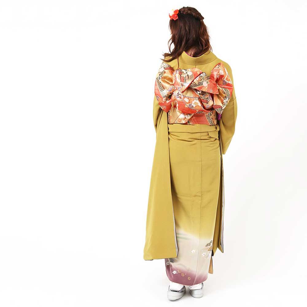 |送料無料|【レンタル】【成人式】 [安心の長期間レンタル]【対応身長155cm〜170cm】【正絹】レンタル振袖フルセット-024|花柄|レトロ|