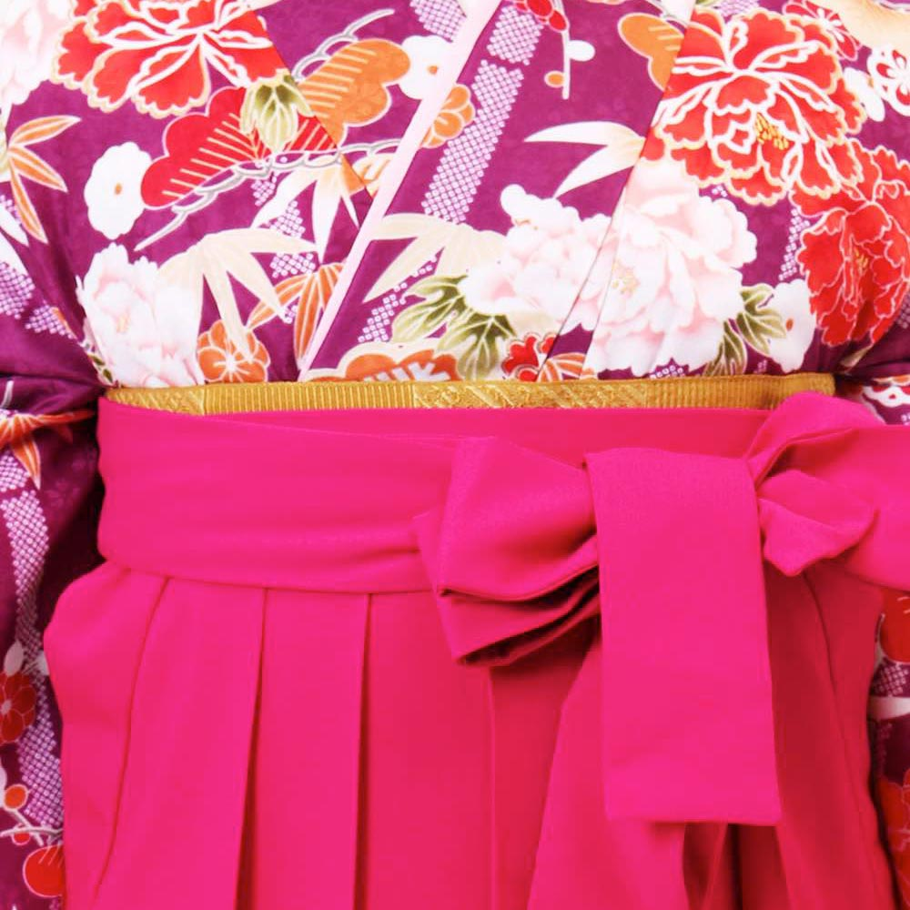 【h】 送料無料 卒業式レンタル袴フルセット-945