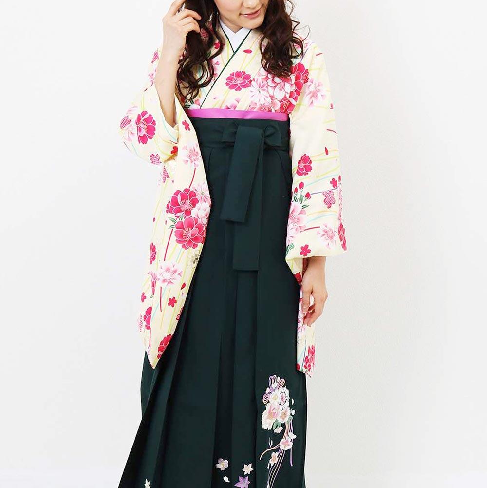 【h】|送料無料|卒業式レンタル袴フルセット-1389