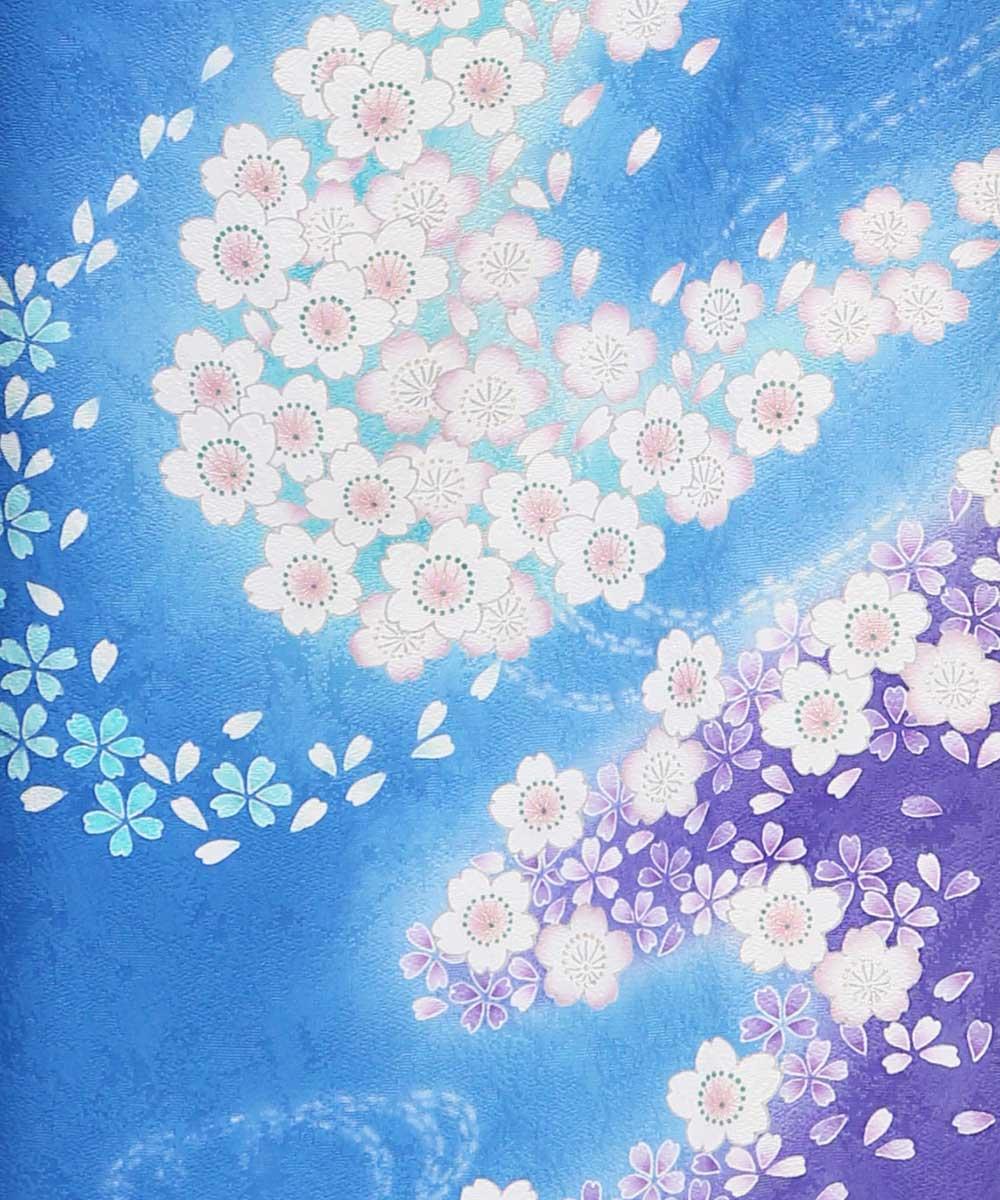 |送料無料|【レンタル】【成人式】 [安心の長期間レンタル]【対応身長150cm〜165cm】【正絹】レンタル振袖フルセット-296|花柄|クール