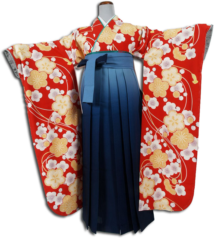 |送料無料|卒業式レンタル袴フルセット-724