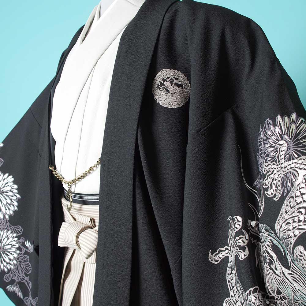 |送料無料|【レンタル】【成人式】安心の最大1ヶ月レンタル可能 男性用レンタル紋付き袴フルセット-7200