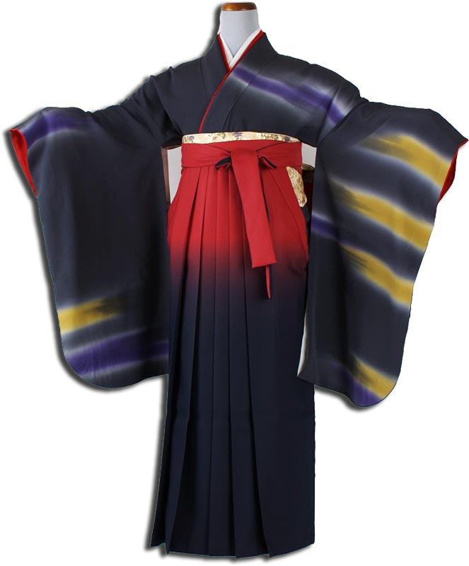 【h】|送料無料|卒業式レンタル袴フルセット-839