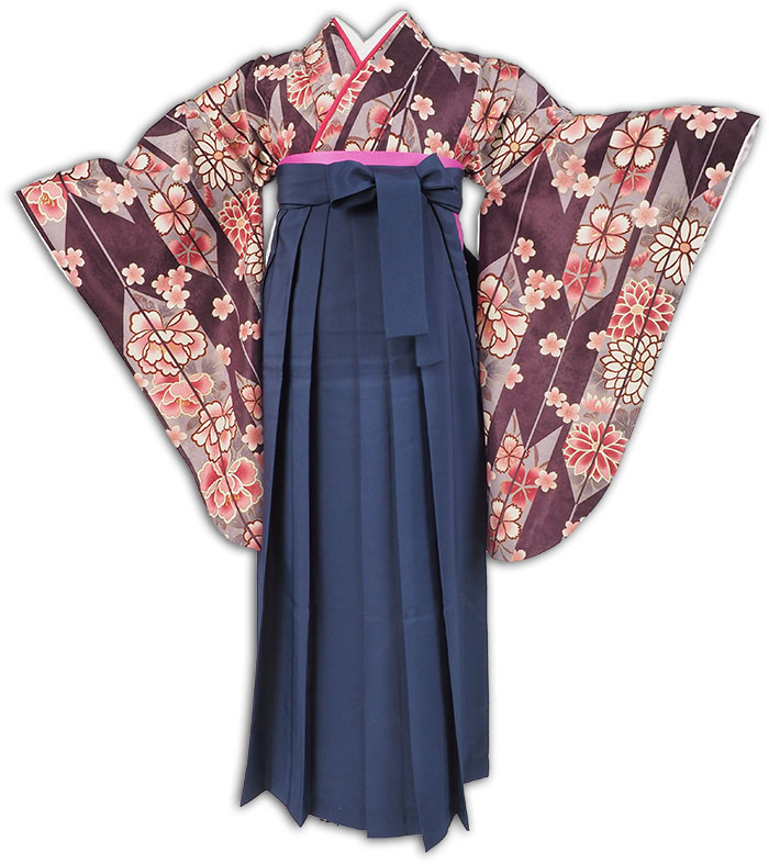 |送料無料|【uxu】卒業式レンタル袴フルセット-1901