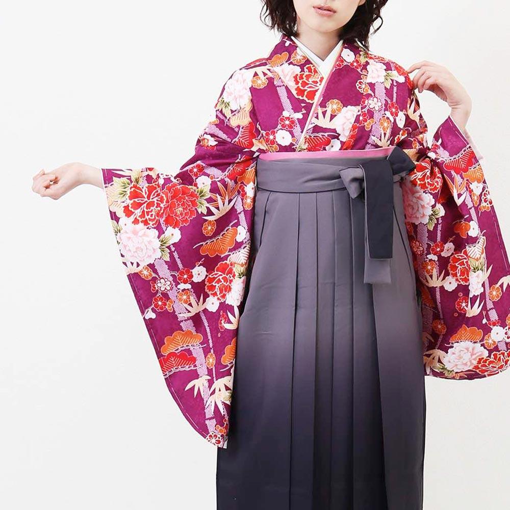 |送料無料|卒業式レンタル袴フルセット-1392