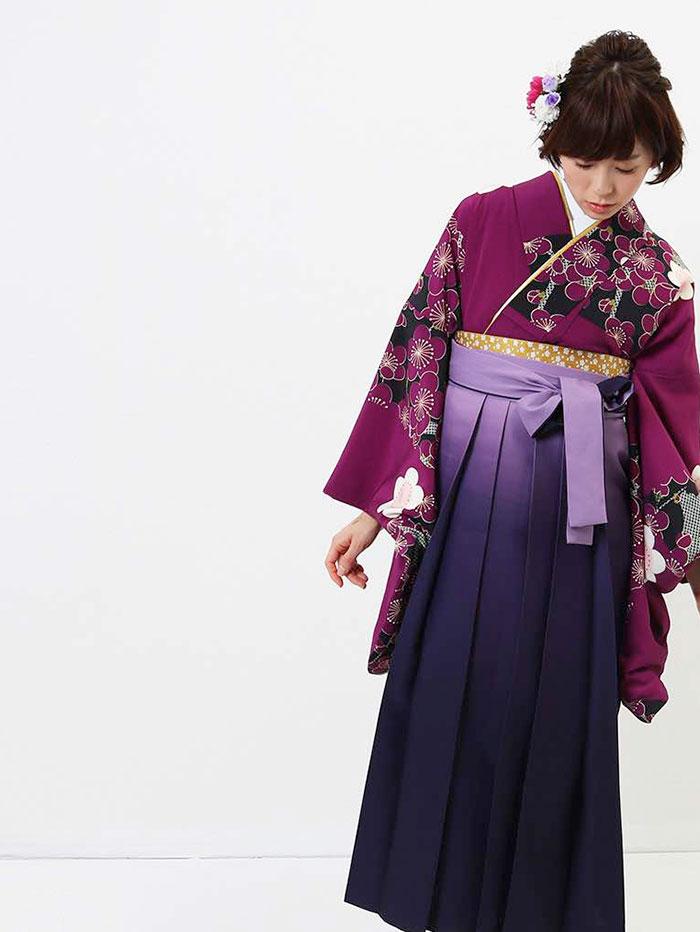 |送料無料|卒業式レンタル袴フルセット-581