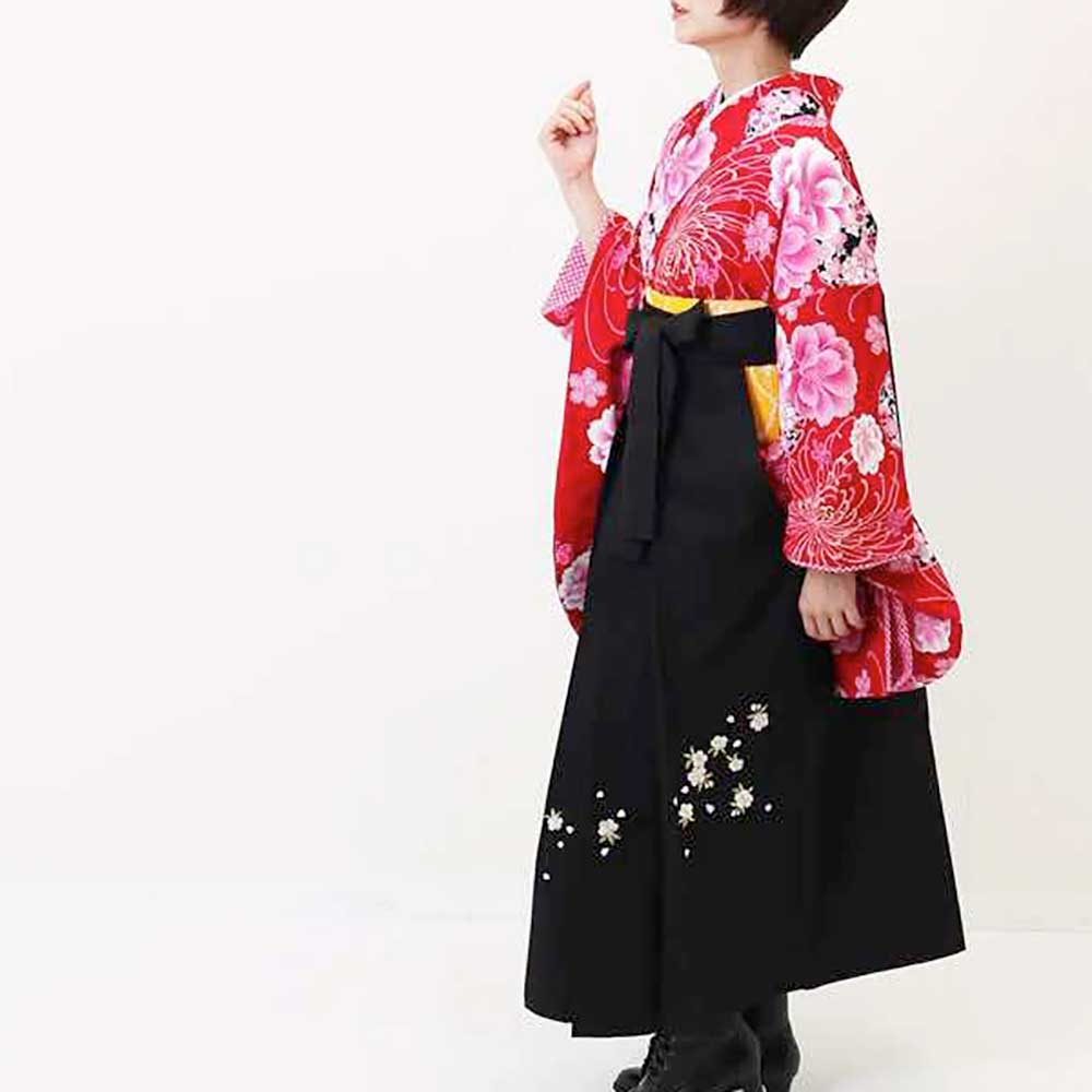 |送料無料|卒業式レンタル袴フルセット-947