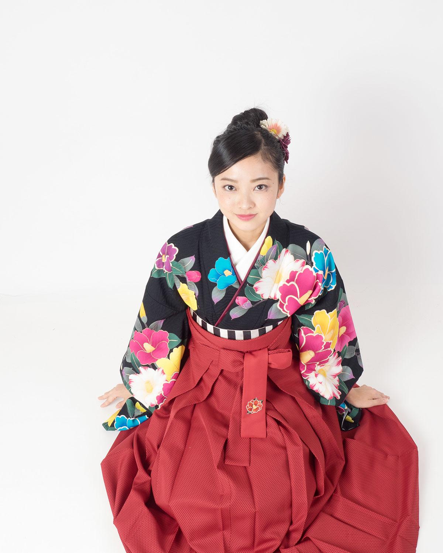 |送料無料|卒業式レンタル袴フルセット-1435