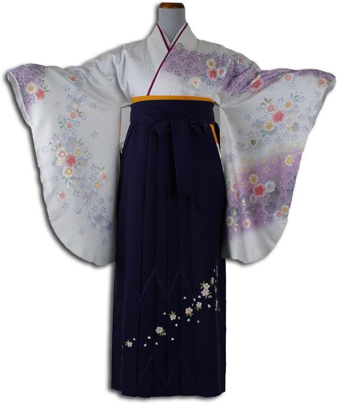 【h】 送料無料 卒業式レンタル袴フルセット-841