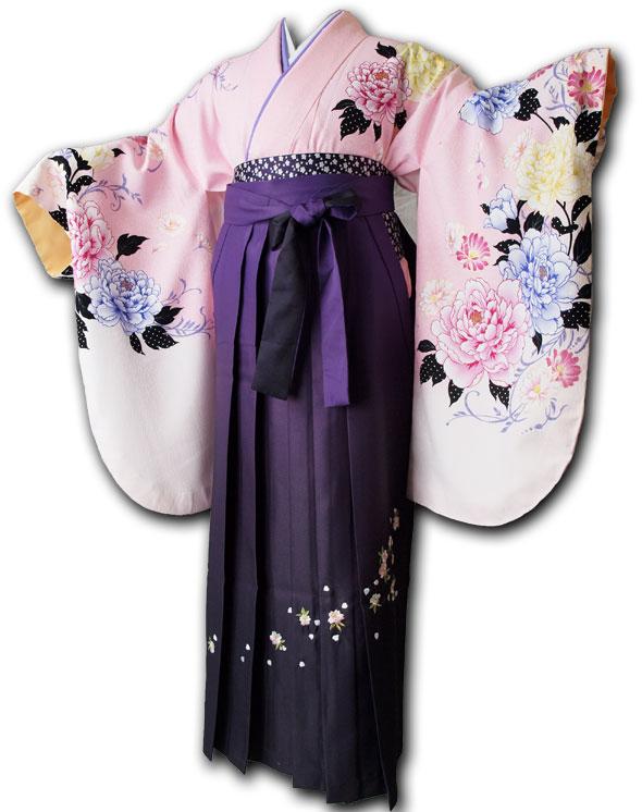  送料無料 【uxu】卒業式レンタル袴フルセット-1018