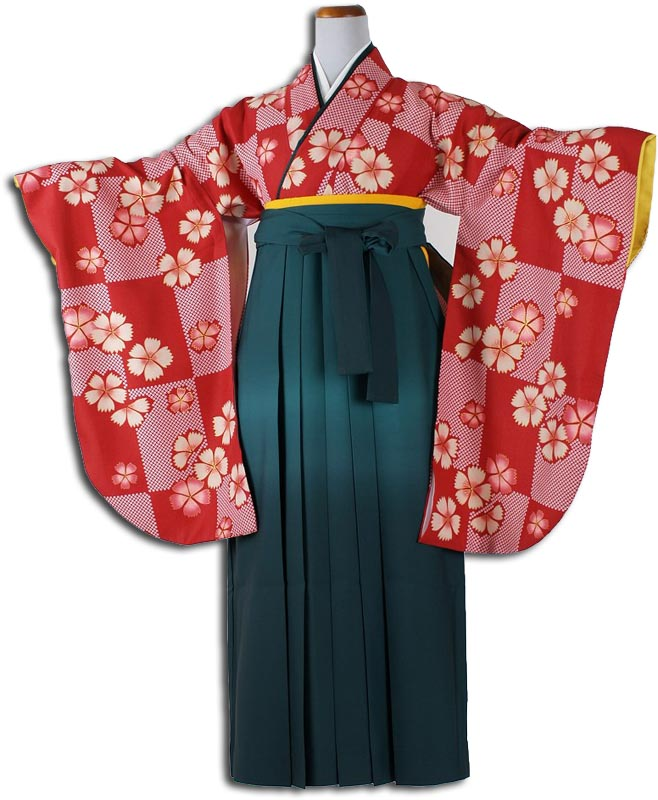  送料無料 卒業式レンタル袴フルセット-843