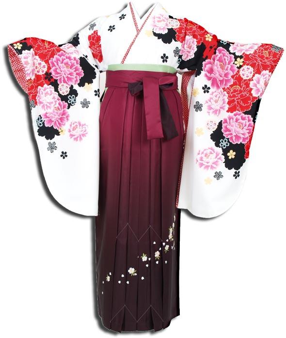 |送料無料|卒業式レンタル袴フルセット-951