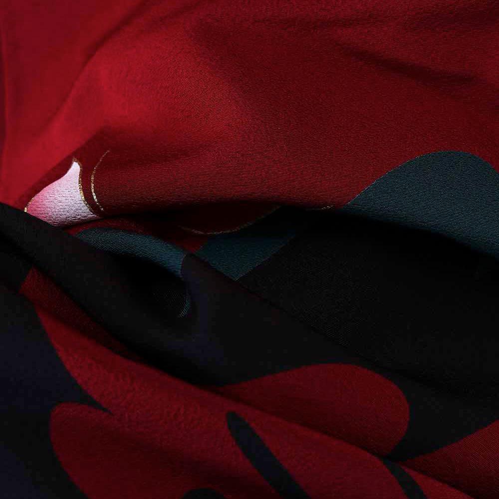 |送料無料|【レンタル】【成人式】 [安心の長期間レンタル]【対応身長150cm〜165cm】【正絹】レンタル振袖フルセット-045|花柄|レトロ|