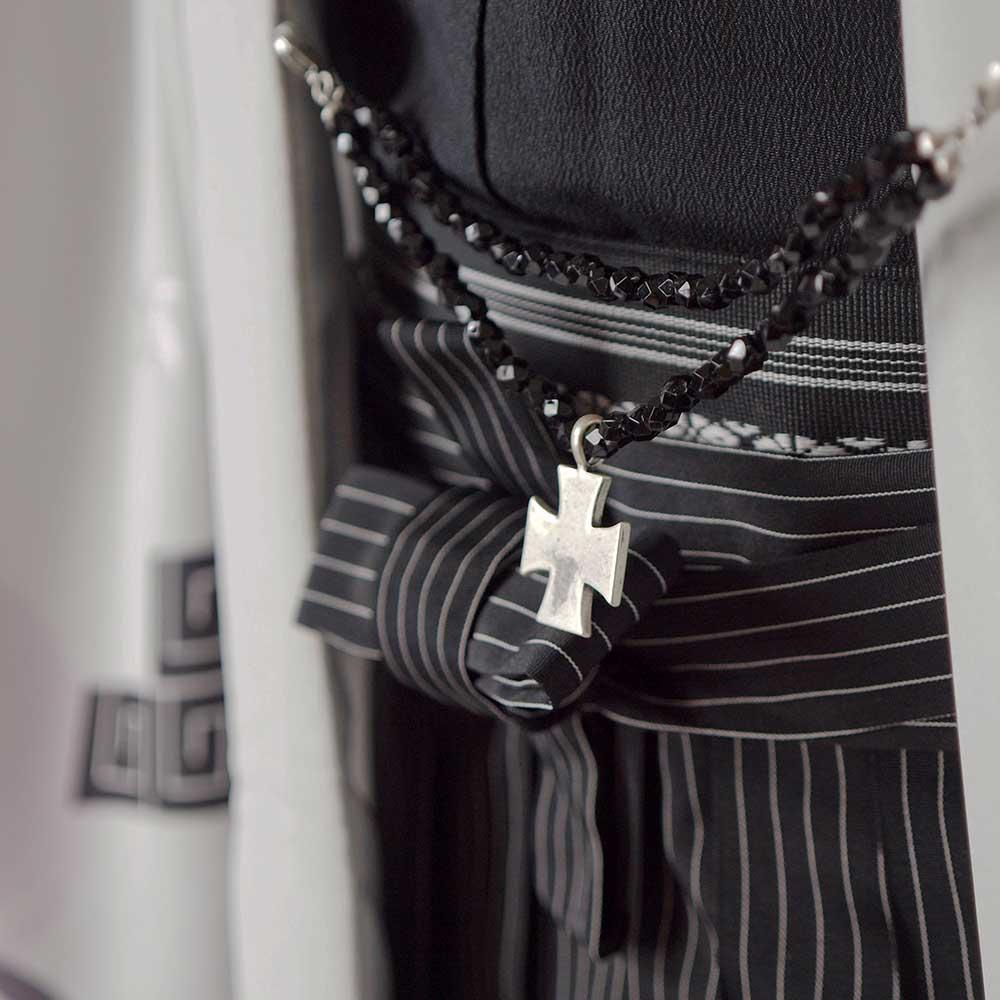 |送料無料|【成人式・卒業式】男性用レンタル紋付き袴フルセット-7048