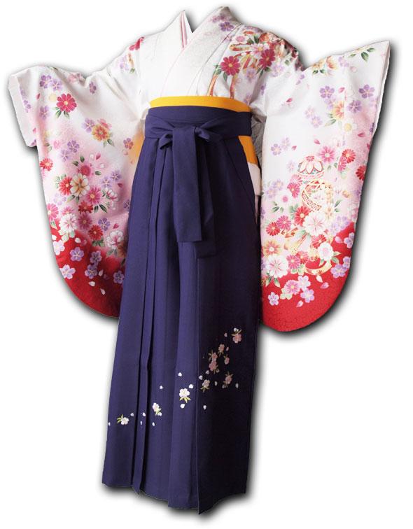 |送料無料|卒業式レンタル袴フルセット-1022
